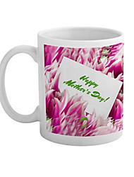 """""""Le jour de mère heureux"""" modèle de fleur tasse en céramique"""