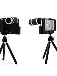 Optical 8X Zoom Telescope Lens Manual Focus with Hard Case and Stand Tripod for iPhone5/5S