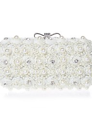 Women Chiffon Event/Party Evening Bag White / Black / Champagne / Ivory