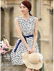 Der strahlende Frauen Chiffon-Trägern Lace-Up-Kleid
