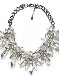 Women's Crystal Necklace High-Grade Gem Flower