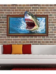 Decalcomanie 3DThe Shark Wall Stickers murali