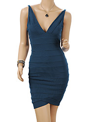 Women's Dresses , Polyester/Spandex Casual MS