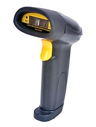 USB Wired Desktop / Handheld Barcode Scanner Laser con supporto - Nero