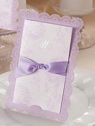 Non personnalisés Format Enveloppe & Poche Invitations de mariage Cartes d'invitation-50 Pièce/Set Style floral Papier d'art 18.4*12.8cm