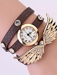 Koshi 2014 Women's Angel Wing 3 Round Diamonade Watch (Dark Brown)