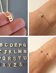 Subi Золото Случайное Письмо браслет