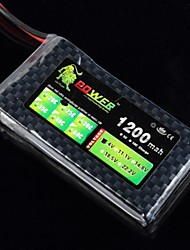 Lion 7.4V 2S 1200MAH 25C Lipo Battery Power for RC Helicopter Airplane Car(JST Plug)