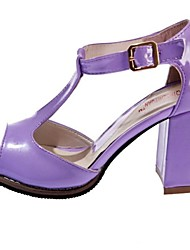 Kunstleder Frauen Chunky Heel T-Strap Sandals Schuhe (weitere Farben)