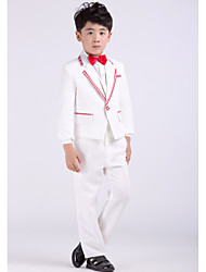 Satin Ring Bearer Suit - 4 Pieces Includes  Jacket / Shirt / Pants / Bow Tie