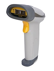 USB Wired Desktop / Handheld Laser Barcode Scanner with Stand - Gray
