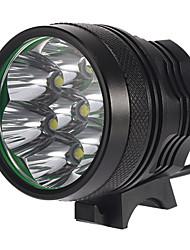7T6 3-Mode 7xCree XM-L T6 ricaricabili Bike Lights (4x18650, 6300LM, Grigio)