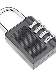 High Quality 4-Digit Luggage Combination Lock -Silver / Black