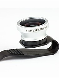 3-In-One 180 º Fisheye Lens Lens Clipe para Celular