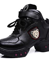 De las mujeres de cuero suave rombo Gimnasio Zapatillas Zapatos de baile