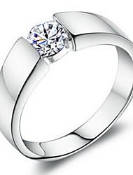Ringe Unisex Kubikzirkonia Platin / Messing Platin / Messing SilberFarbe & Stil Darstellung variiert je nach Monitor. Nicht