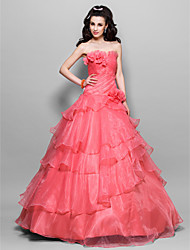 Prom/Formal Evening/Quinceanera/Sweet 16 Dress - Watermelon Plus Sizes Princess/Ball Gown Strapless Floor-length Organza