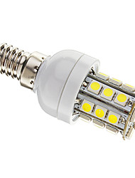 Dimmable Corn Bulbs , E14 3 W 27 SMD 5050 350 LM Cool White AC 220-240 V