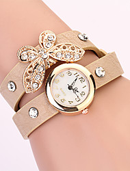 Koshi 2014 Feminina Bow Diamonade 2 Round Watch (creme)