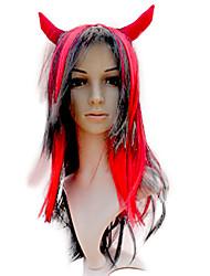 Cosplay synthétique corne de boeuf perruque
