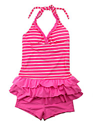 Girl's Striped Swimwear,Nylon Summer