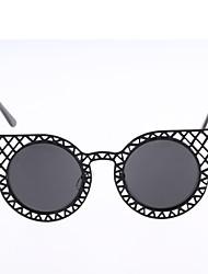 MSMK Women's Metal Mesh Cut Out Black Sunglasses