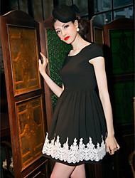 TS Lace Decor Simplicity Skater Dress