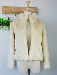 Long Sleeve Standing Collar Faux Fur Casual/Party Jacket (More Colors)