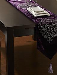 """Purple Velvet Tischläufer mit Blumendiamant 80 """"× 12"""""""