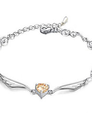 Mengguang Vrouwen Zirkoon Crystal Angel Wings armband O84