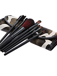 Cosmetic Brush Tools with Leatherette Pouch