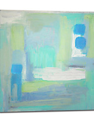 Hand Painted Oil Painting Abstract Light Blue with Stretched Frame