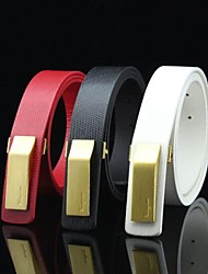 Women's Casual  Leather  Buckle Belt 3 Colors