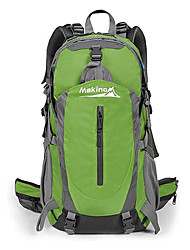 40 L Tourenrucksäcke/Rucksack Camping & Wandern Klettern Reisen Radsport Wasserdicht Schnell abtrocknend Regendicht tragbar Nylon Makino