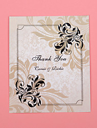 Thank You Card - Floral Print - Set Of 50