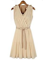 Nuevo Empalme vestido plisado de la Mujer
