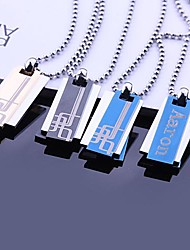 Personalized Gift  Stainless Steel Jewelry  Three Layer Engraved Pendant Necklace with  60cm Chain