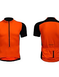 Jaggad Summer Unisex Black Orange Polyester Spandex Rear Pocket Cycling Jersey