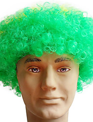 Black Afro Wig Fans Bulkness Cosplay Christmas Halloween Wig Brazil's nationa Flag Wig 1pc/lot