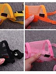 moda nylon mordida focinho treinamento bit de parada com fita fecho de nylon para animais de estimação cães (cores sortidas)