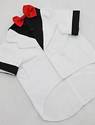 Dog Tuxedo Black White Dog Clothes Winter Spring/Fall Solid Wedding Birthday