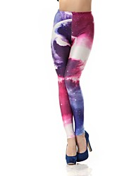 Elonbo Sexy Personality Sky Style Digital Painting Tight Women Leggings