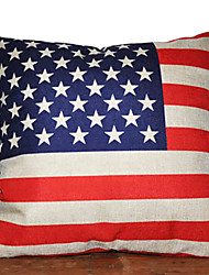 Stars & Stripes Flag Pattern Decorative Pillow Cover