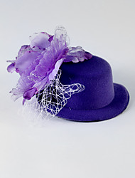 Women's Flower Girl's Tulle Silk Headpiece-Wedding Special Occasion Casual Flowers