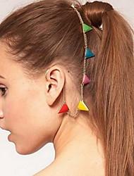 Этническая Многоцветный Треугольник Форма Золото Проба Волосы Комбс для женщин (многоцветный, золото) (1 шт)