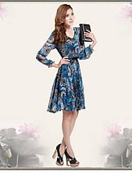 Col rond des femmes Style vestimentaire chinois Impression