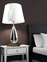 Minimalist Modern Table Light With Cubic Fabric Shade And Polished Chrome Metal Lamp Pole
