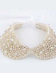 Created Pearl Collar Necklaces For Women