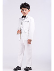 White Satin Ring Bearer Suit - 4 Pieces