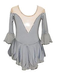 Girl's Polyurethane Fibre Figure Skating Dress (Gray)